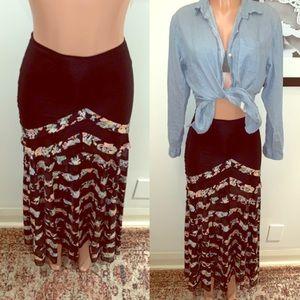 FREE PEOPLE | boho maxi skirt |